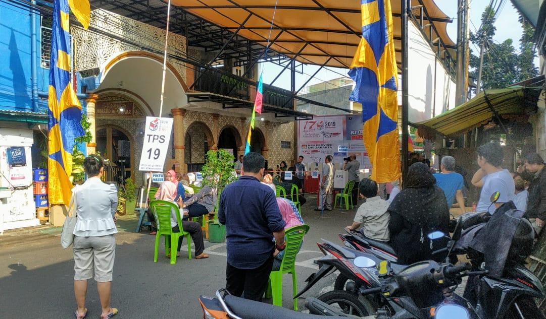 Pemilu Di TPS 19 Kemanggisan Jakarta Barat Berlangsung Aman & Tertib