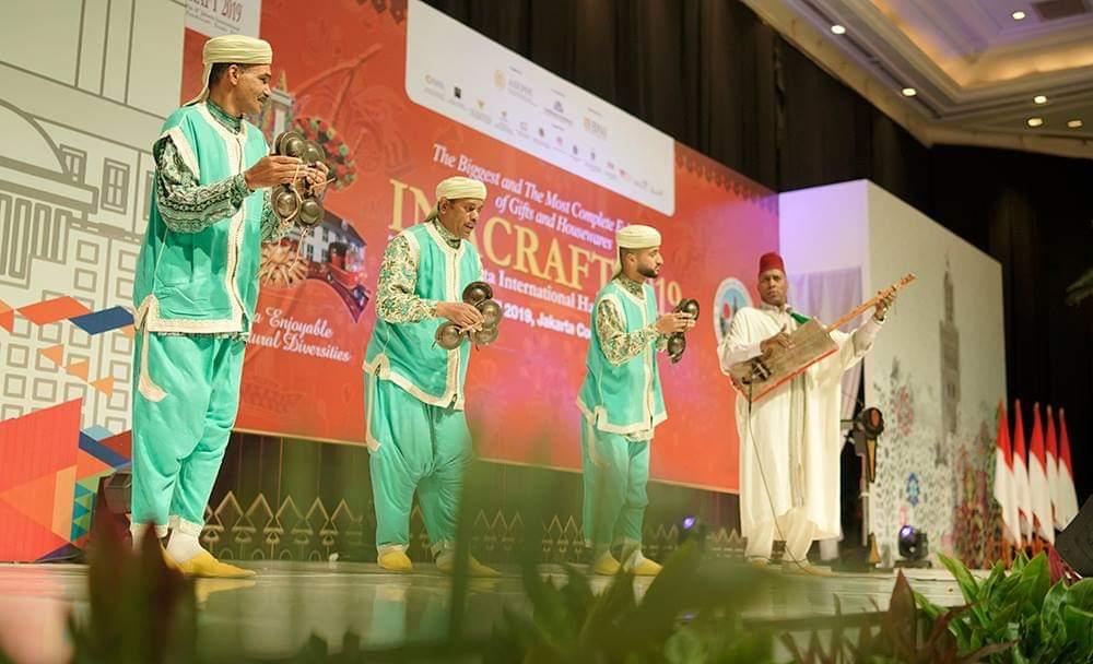Team Kesenian Sahrawi Maroko Tampil Di Pembukaan Inacraft 2019 Di Jakarta