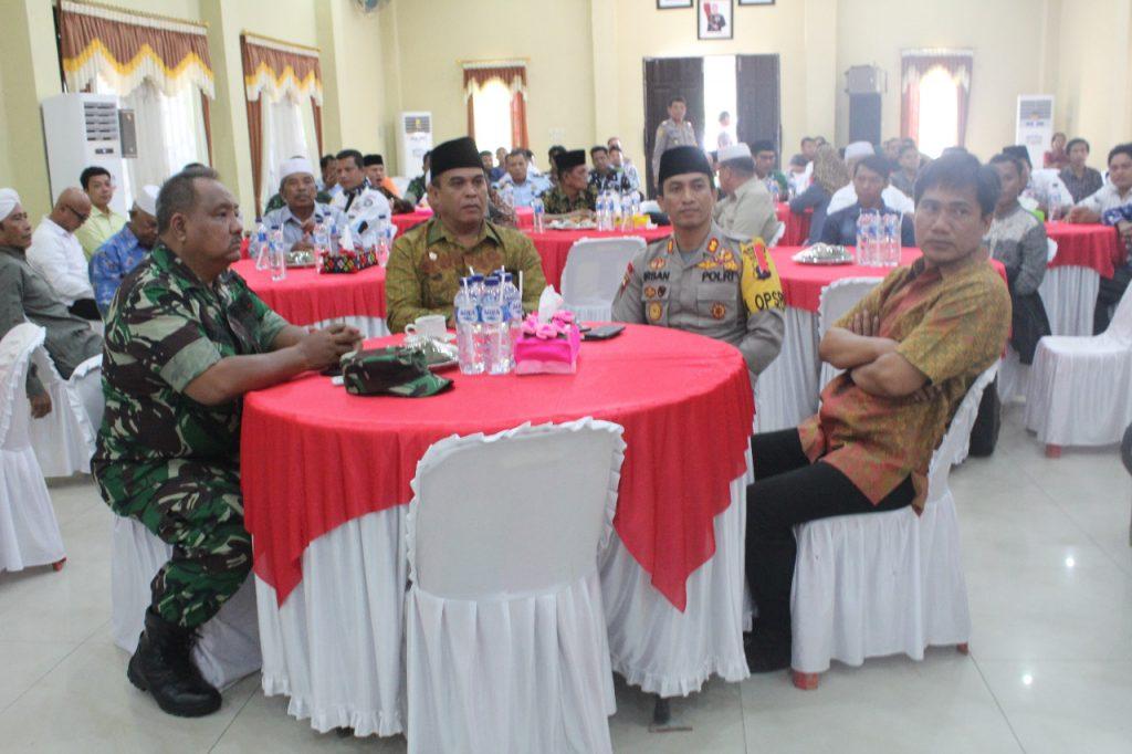 Adakan Deklarasi Damai Pemilu 2019, Kapolres Mandailing Natal Mendoakan Anggota TNI / Polri, KPU / Bawaslu Yang Meninggal Dunia Saat Bertugas
