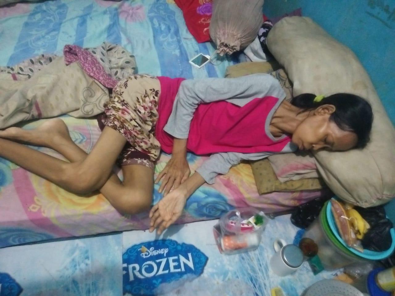 Kp. Bulak Pondok Melati Bekasi' Sunarsih Warga Miskin Butuh Bantuan