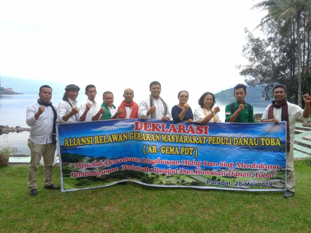 Aliansi Relawan Pencinta Danau Toba Adakan Deklarasi Di Parapat