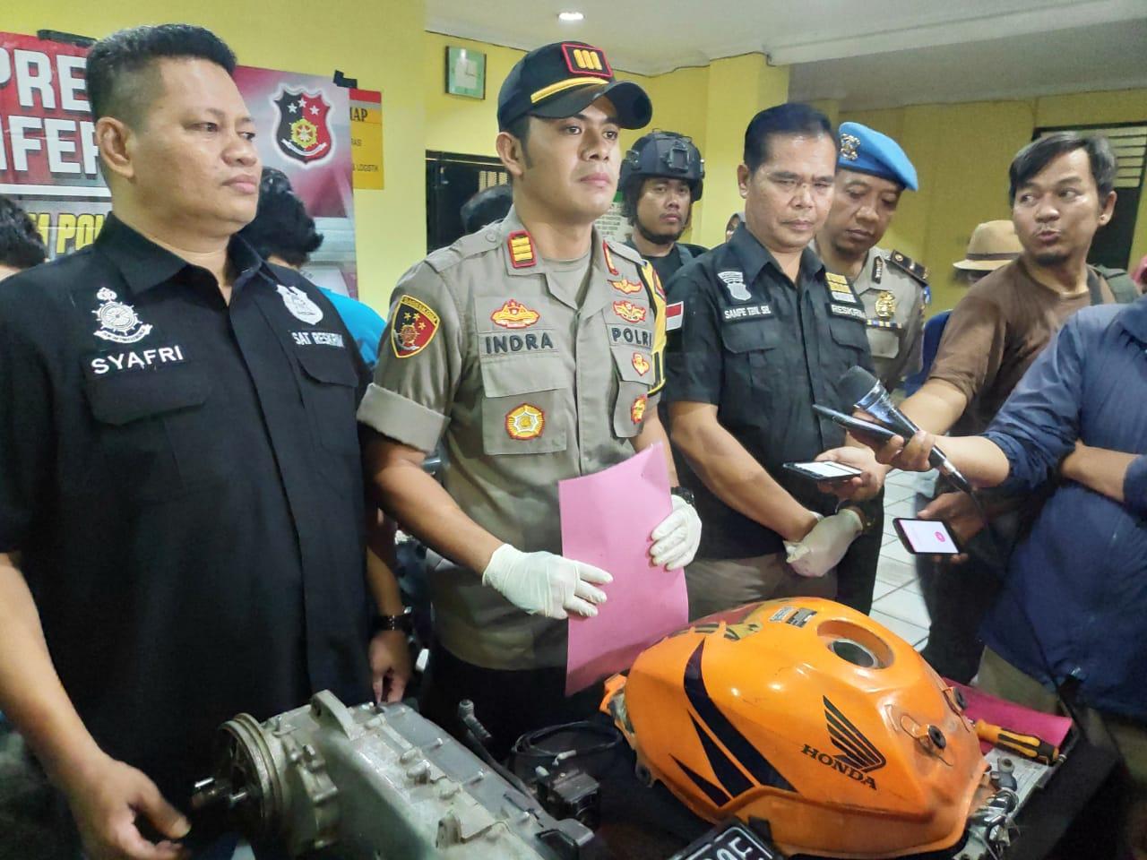 Tiga Pelaku Penadah Hasil Ranmor Dibekuk Polisi