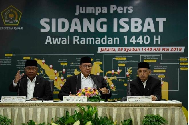 Pemerintah Tetapkan Awal Ramadan 1440 H Jatuh pada 6 Mei 2019