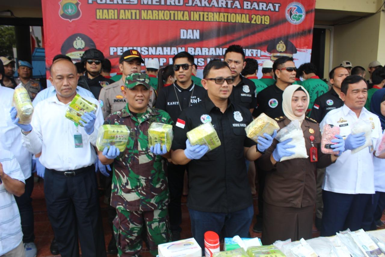 Polres Jakarta Barat Musnahkan Barang Bukti 138 Kg, Sabu Dan 10.382 Butir Ekstasi