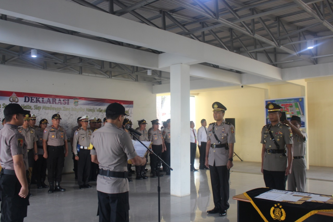 Sertijab Kasatreskrim Polres Bandara Soekarno Hatta Berjalan Lancar