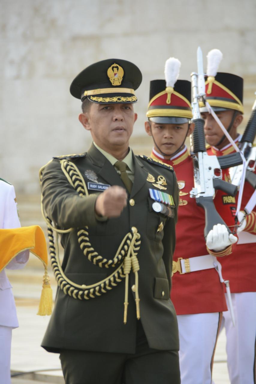 Kolonel Inf Rudy Saladin, Pimpin Awali Prosesi Upacara Peringatan HUT ke-74 RI
