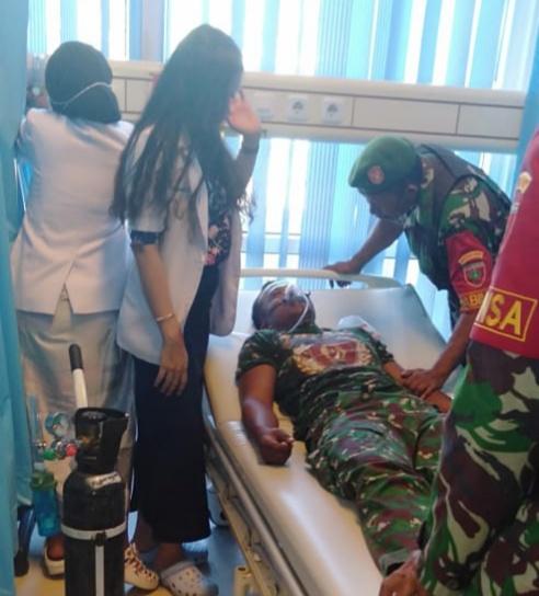 Babinsa kodim Selamatkan Anggota Brimob Dari Amukan Massa, Sertu Subakri Dirawat Di RS