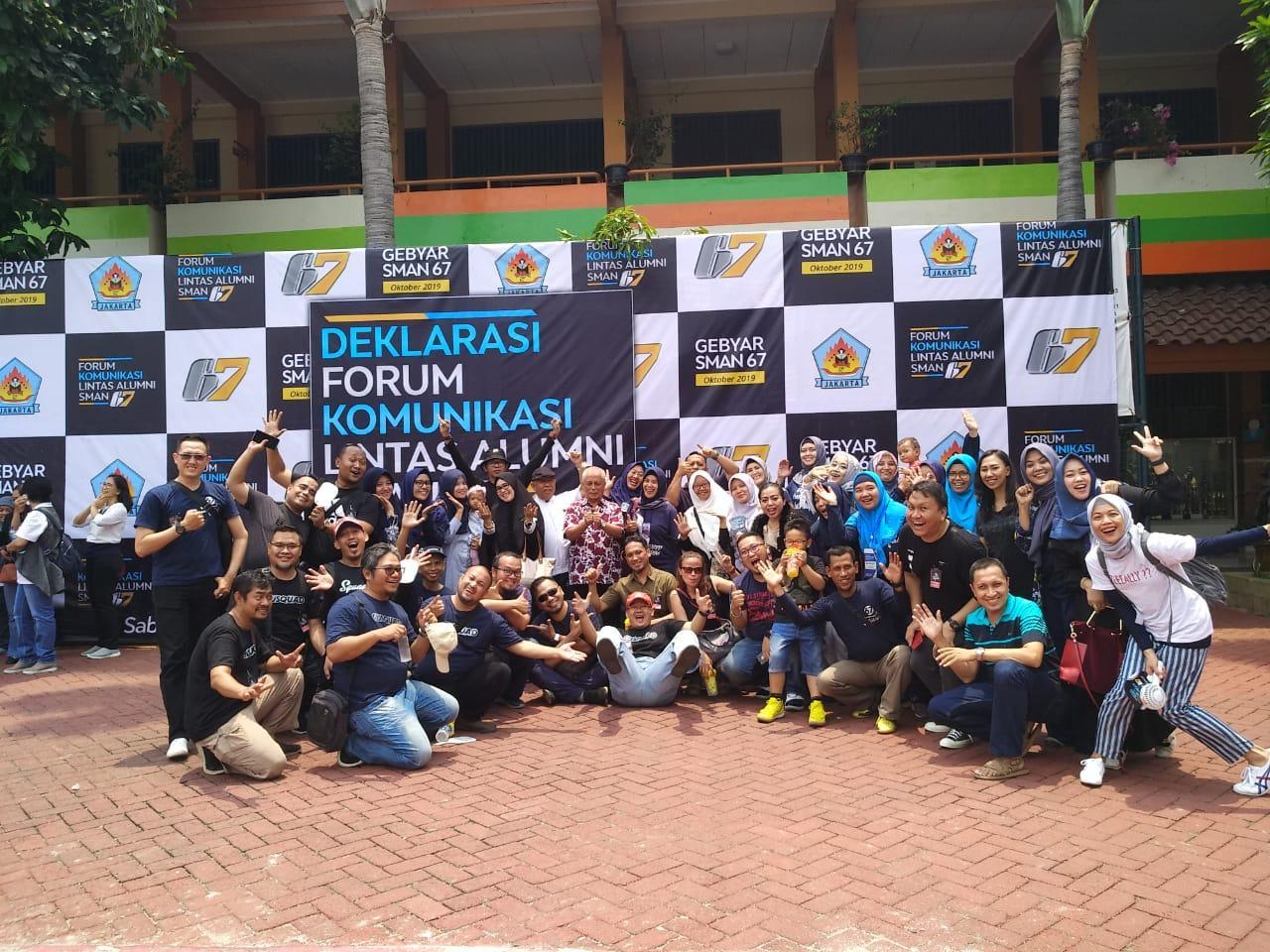 SMAN 67 Jakarta Deklarasikan Pendirian Forum Komunikasi Lintas Alumni