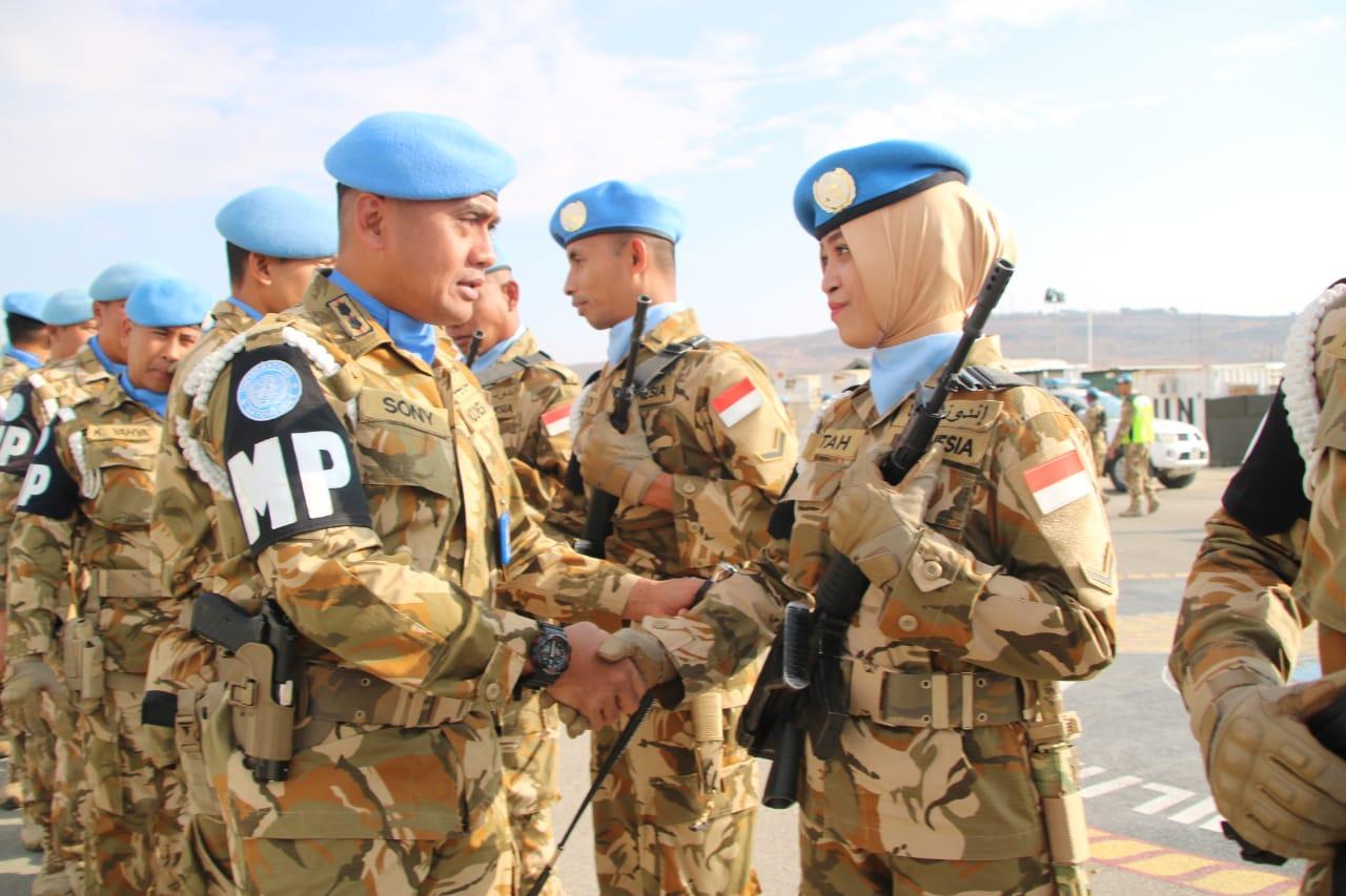 Sempu Peringati HUT Ke-73 POMAU Di Lebanon Selatan