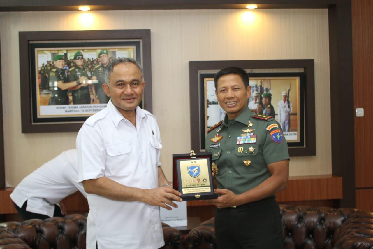 Tingkatkan Kerjasama, Pangdam XII/Tpr Terima Kunjungan Kepala BNN Pusat