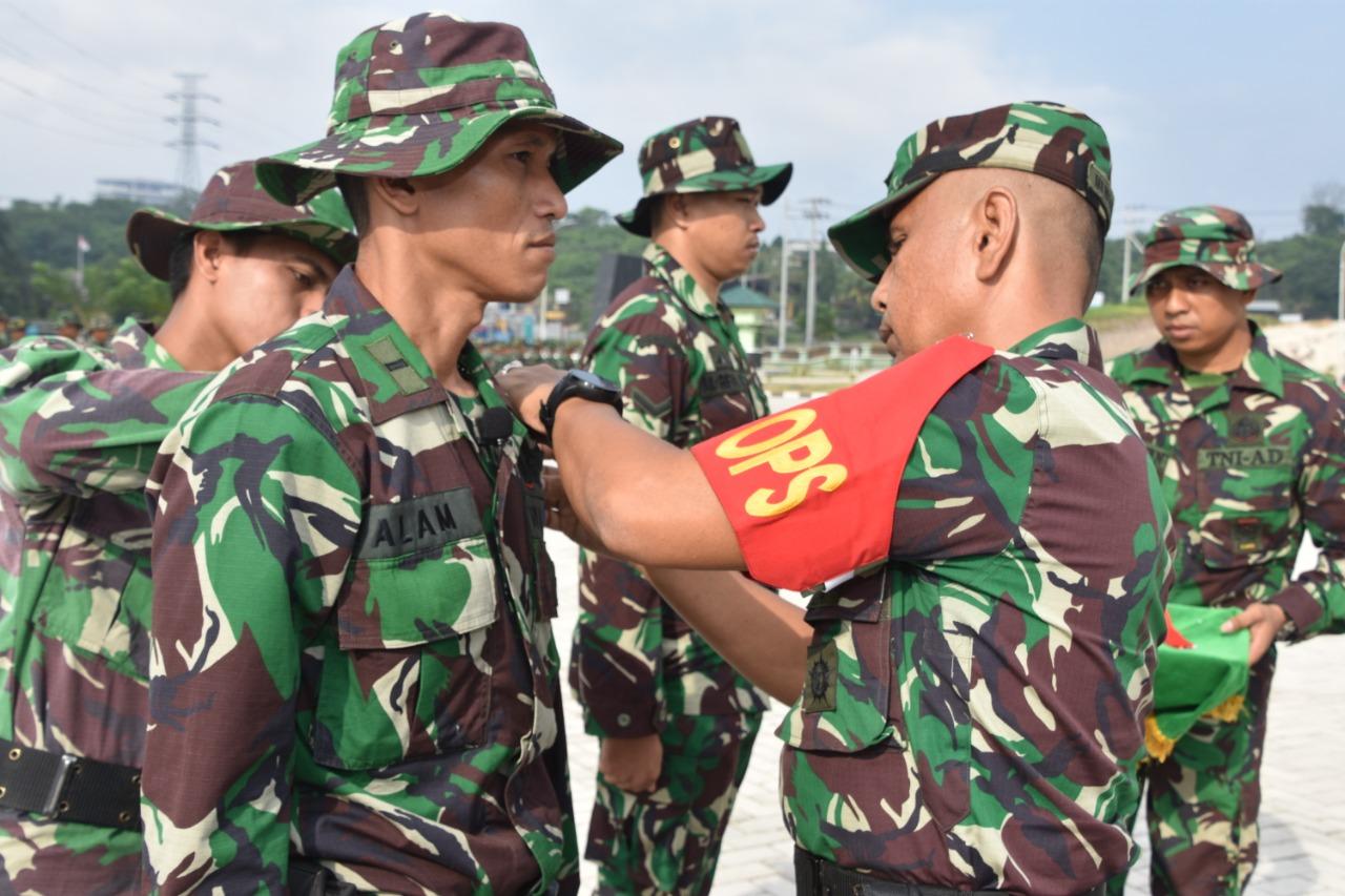Antisipasi Karhutla, Personel Korem 091/ASN Gabungan Gelar Latihan Bersama