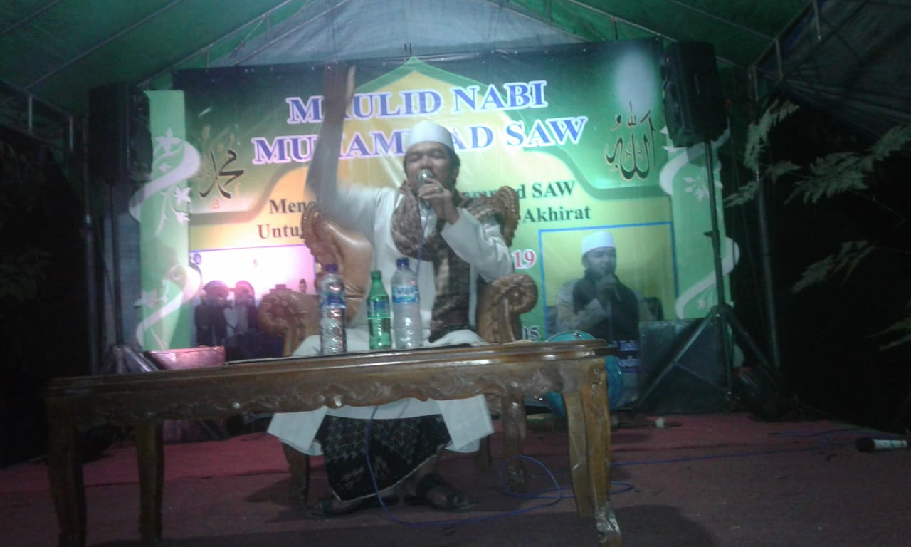 Warga Kampung Bendo Sari  Peringati Kelahiran Nabi Muhammad SAW 1441 Hijriah