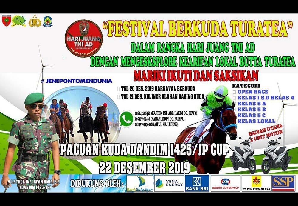 Ingin Makan Daging Kuda? Kunjungilah Festival Berkuda Turatea Di Jeneponto