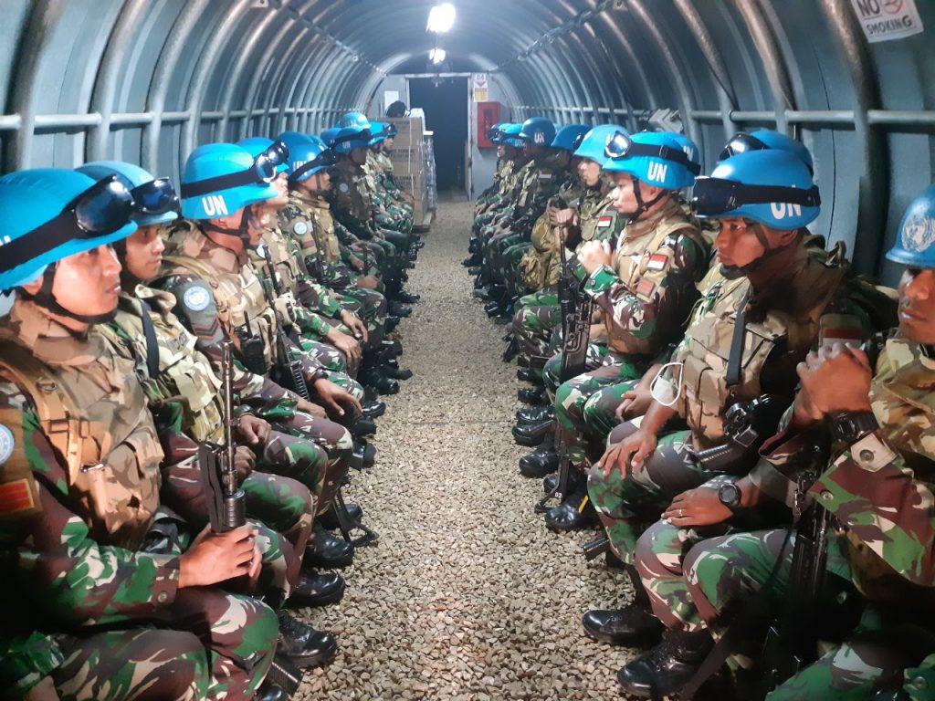 Jelang  Akhir Penugasan, Satgas Konga XXIII-M UNIFIL  Tingkatkan Kesiagaan
