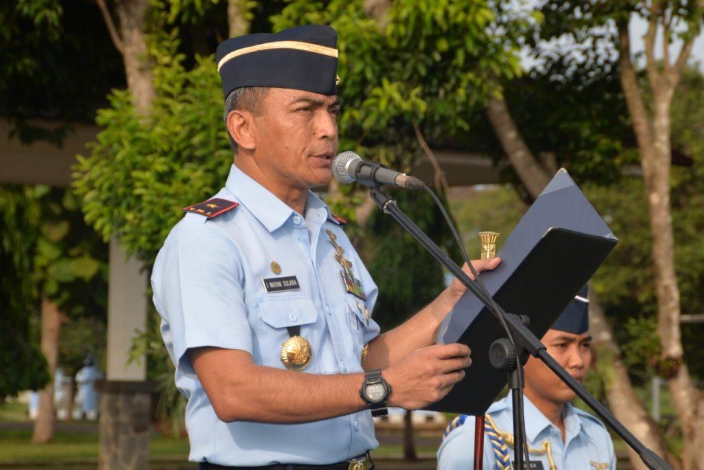 Komandan Lanud Suryadarma Pimpin Upacara Hari Bela Negara ke-71