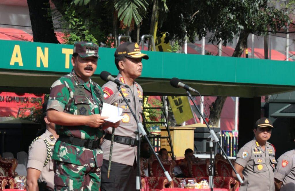 Panglima TNI Pimpin Apel Gelar Pasukan Pengamanan
