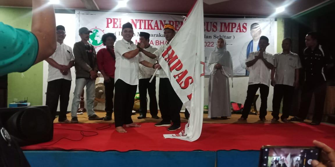 Di lantiknya Ketua Organisasi IMPAS Kamal, Berbuat Jelas Beramal Ikhlas