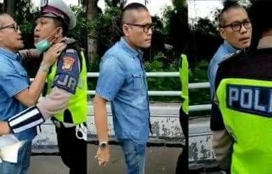Tidak Terima Di Tilang Petugas Patroli PJR Di Ajak Duel