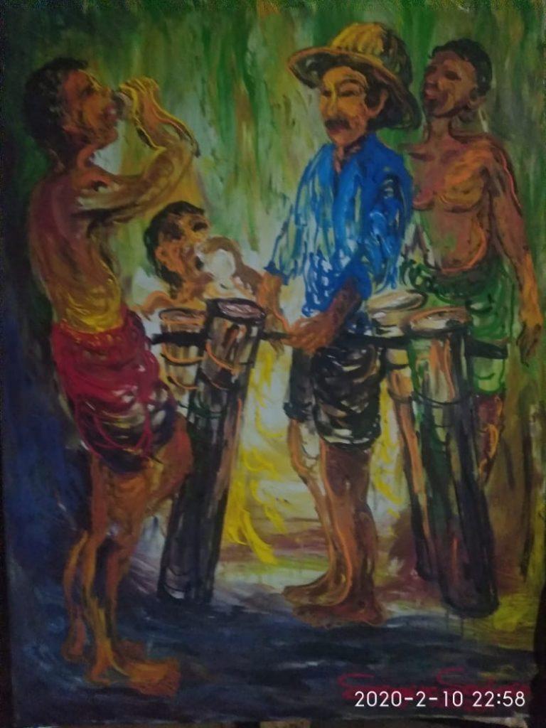 FENOMENA Dan NOMENA Lukisan SUGENG SANTOSO 200 Juta, Bertema Nafas Bumi Berjudul 11 Keberuntungan