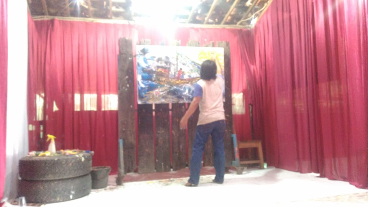 Pertunjukan Lahir Kelahiran Jari Menari Di 11 Keberuntungan Karya Lukis Sugeng Santoso