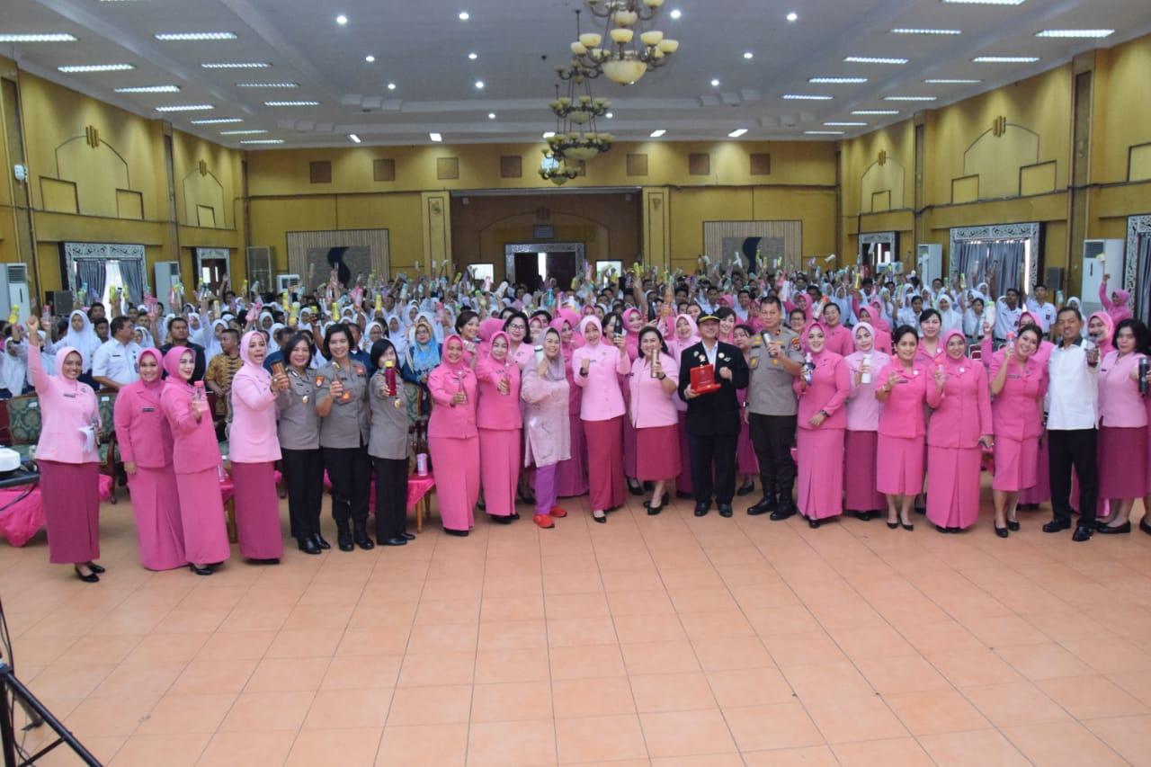 Ibu Asuh Polwan Republik Indonesia Ny .Fitri Idham Azis Gelar Ceramah Anti Narkoba Di Polda Sumut