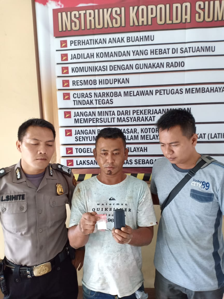 Dapat Upah 250 Ribu, Mantan Residivis Kembali Ditangkap Polsek Dolok Masihul Terlibat Kasus Narkoba