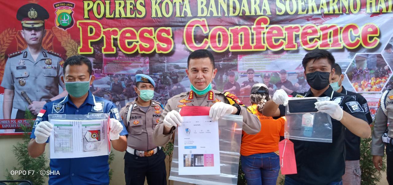 Team Garuda Polres Bandara Soetta Ungkap Penipuan Menawarkan Masker Murah Melalui Media Sosial