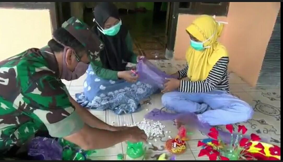 TMMD Bangkitkan Kemandirian Ekonomi Keluarga Ditengah Pandemi Corona