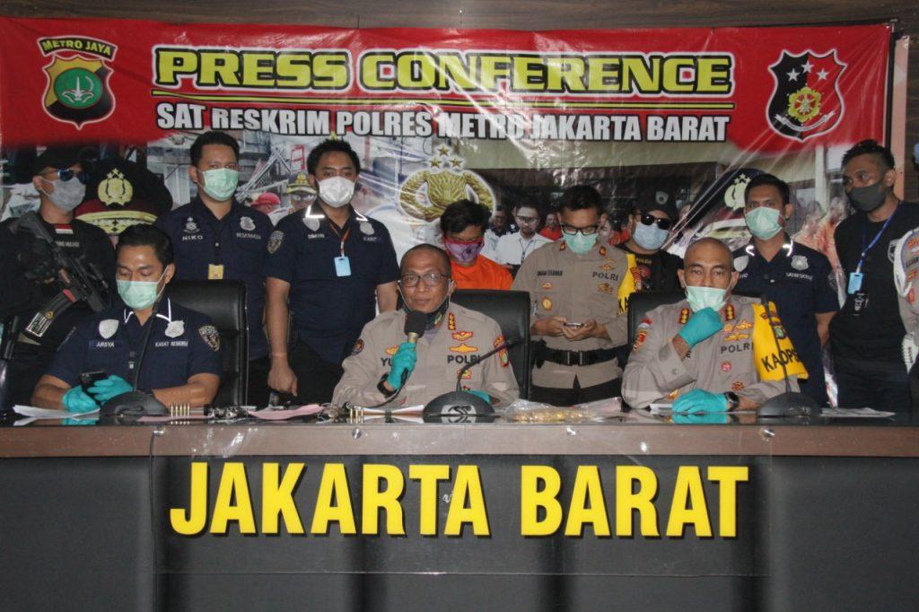 Sat Reskrim Polres Jakarta Barat  Berhasil Amankan 5  Perampok Toko Emas Lintas Provinsi