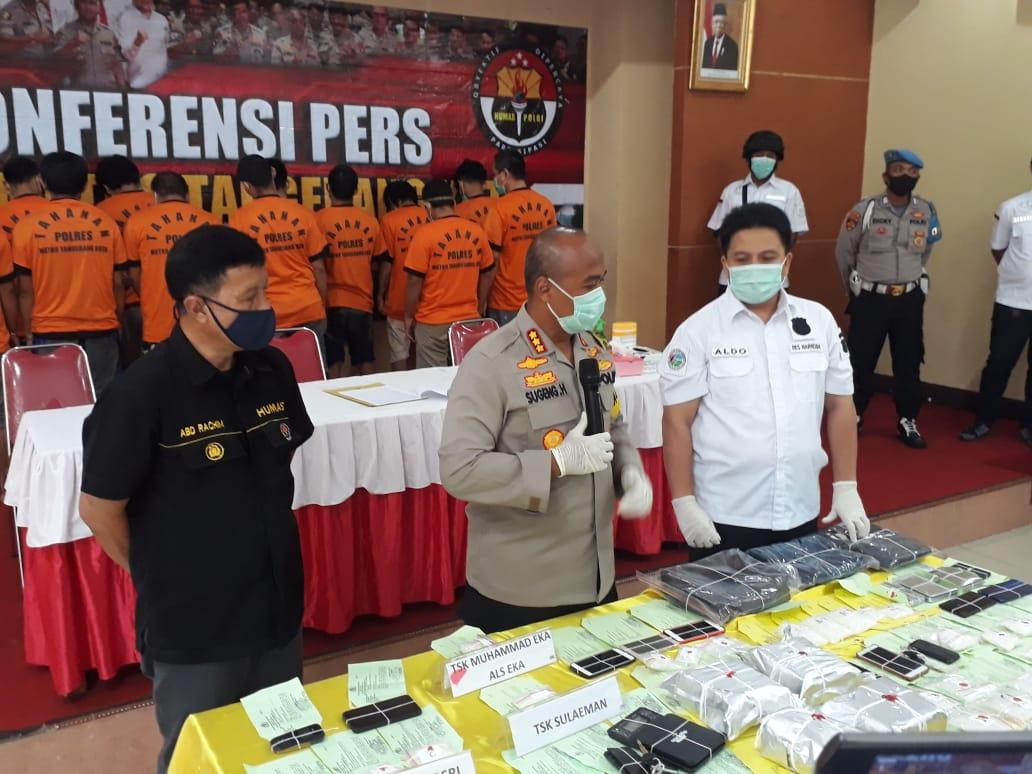 Sat Narkoba polres Tangerang Ungkap Jaringan Peredaran Narkotika Jenis Sabu