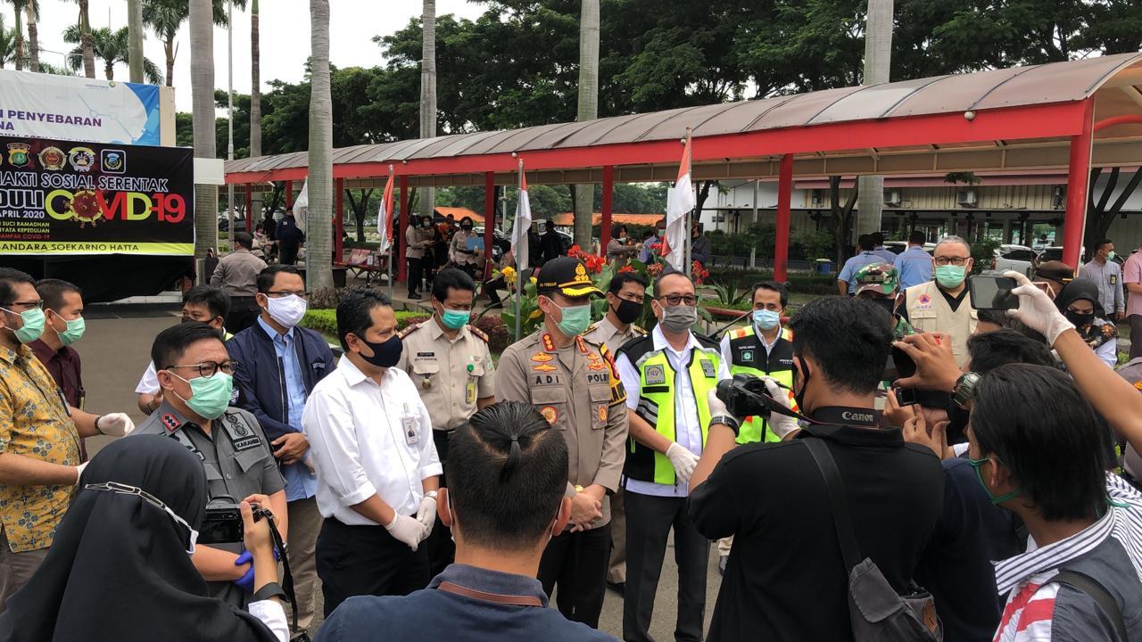Polres Bandara Soeta Bersama Komunitas Gerakan Bakti Sosial Covid -19