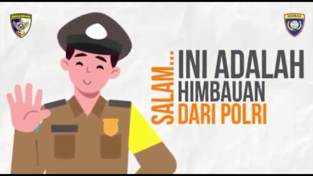 Baharkam Mabes Polri Menyebarkan Himbauan Lewat Media Online