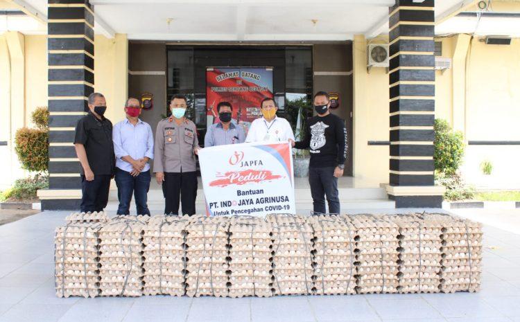 Peduli Dampak Covid-19, Polres Sergai Terima Bantuan 6000 Butir Telur Dari JAPFA