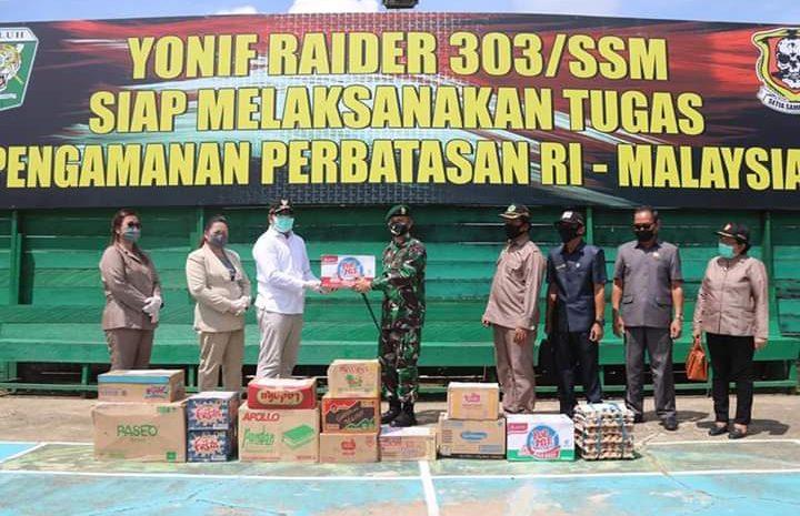 Menjelang Akhir Tugas, Satgas Yonif Raider 303 Kostrad Mendapat Apresiasi Bupati Mahakam Ulu