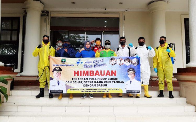 Perangi Covid-19, Brimob Banten Bersama BPBD Dan Kopassus Semprotkan Disinfektan Di KP3B