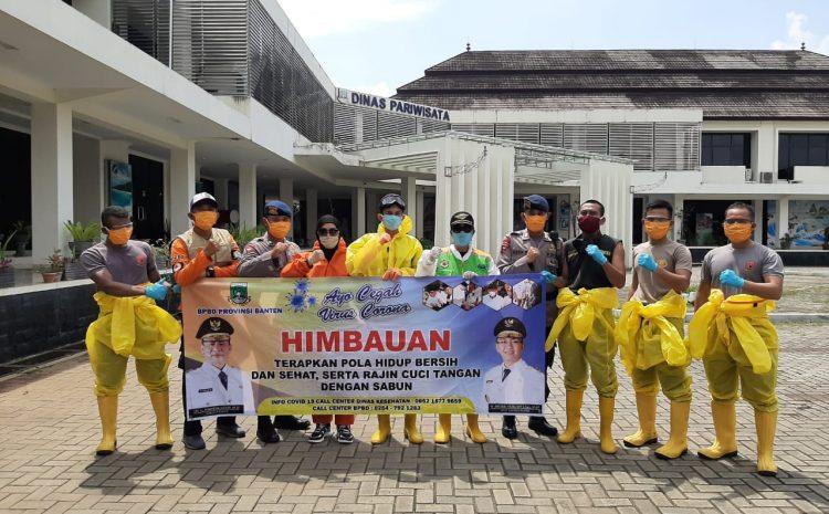 Ini Yang Dilakukan Brimob Banten Untuk Memutus Rantai Penyebaran Virus Corona