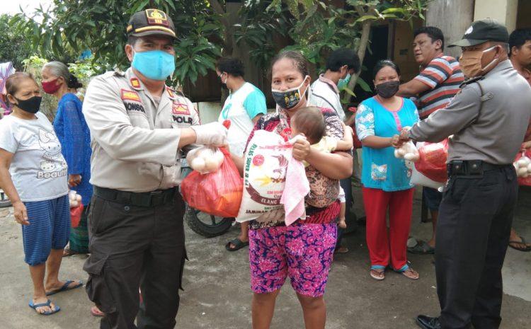 Bantu Warga Terdampak Covid-19, Polsek Perbaungan Bagikan 45 Paket Sembako