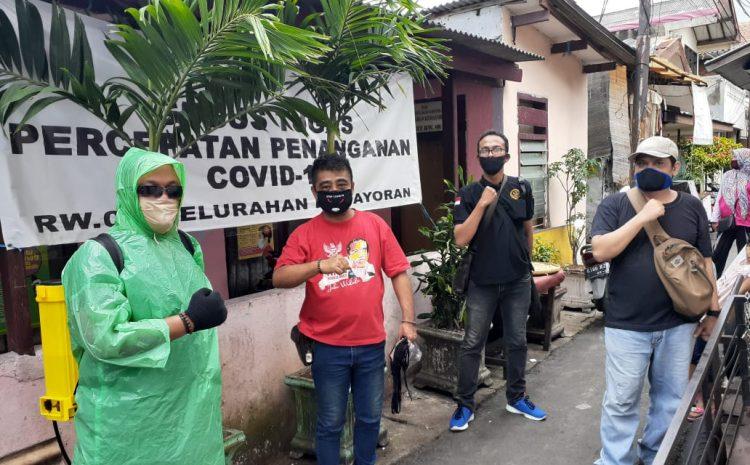Garuda Indonesia Jaya Bersama GRPB Melakukan Penyemprotan Disinfektan Di Wilayah Kemayoran Jakarta Pusat