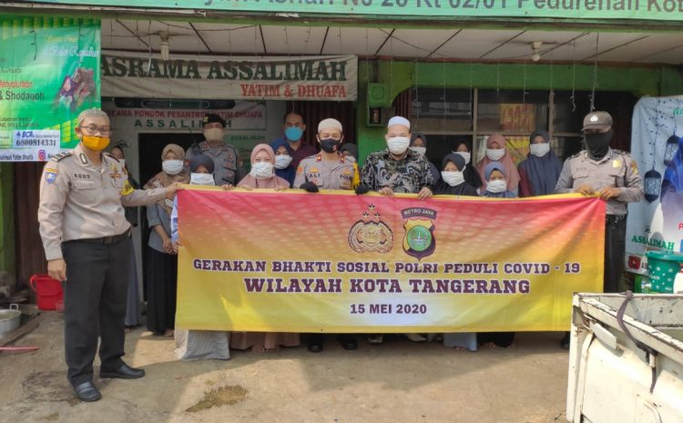 Kapolsek Ciledug Kompol Ali Zusron SH ,MH Menyalurkan Baksos Kepada Yayasan Yatim Piatu