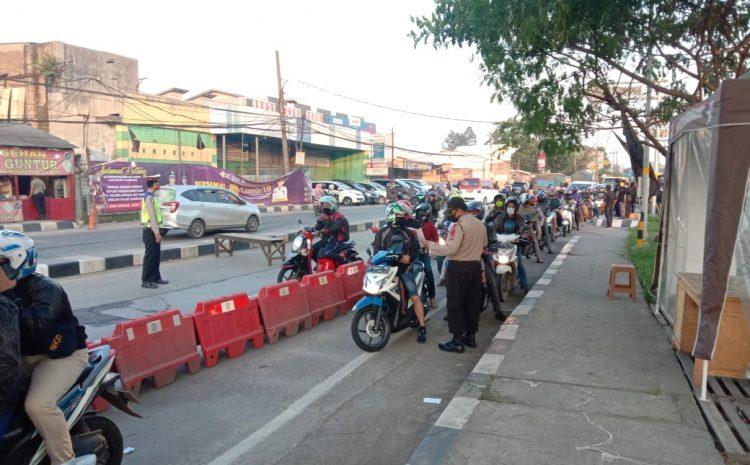 PSBB Tangerang Raya Di Perpanjang, Ditsamapta Polda Banten Perketat Penyekatan Di Pos Check Point