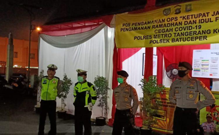 Kapolres Metro Tangerang Kota Kombes Pol Sugeng Hariyanto Memonitoring Pengamanan Ketupat Jaya 2020