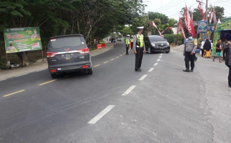 Polres Sergai Putar Balik 85 Kendaraan Pada H-1 Hari Raya Idul Fitri 1441 H