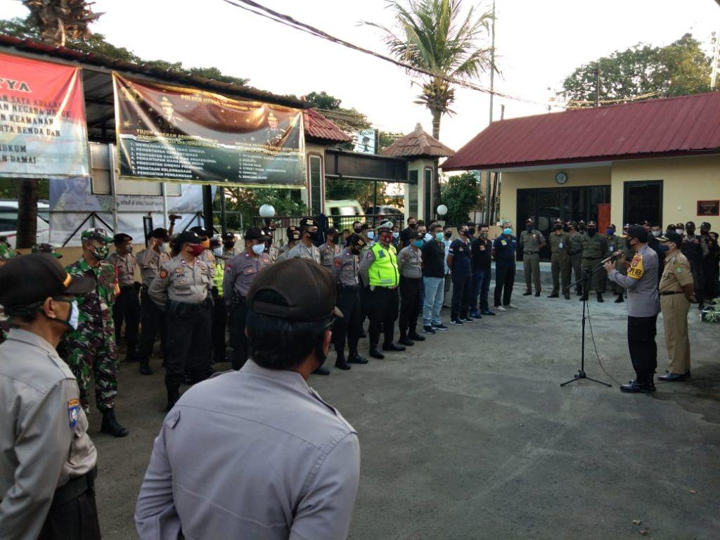 Kegiatan Apel Pengamanan Malam Takbir 1441H, Dilakukan Tiga Pilar kecamatan Batu Ceper Kota Tangerang