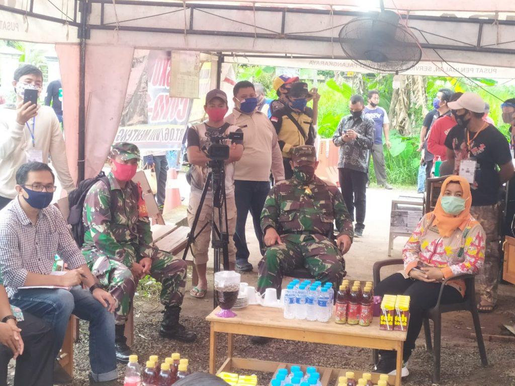 Wilayah Koramil Pahandut Jadi Check Poin Putus Mata Rantai Covid-19