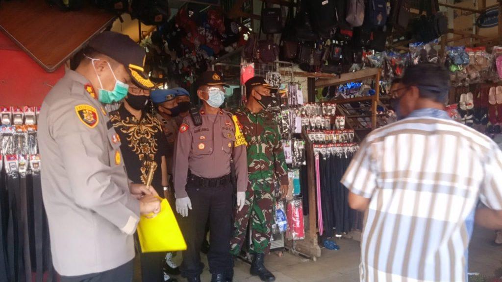 Sambut New Normal, Kapolres Serang Sidak Pasar Tradisional Ciruas