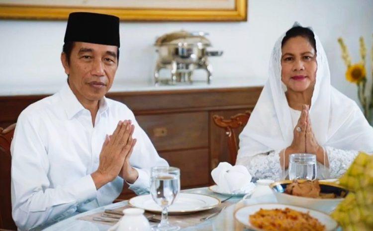 Presiden Jokowi Dan Ibu Negara Sampaikan Ucapan, Selamat Hari Raya Idulfitri 1441 Hijriah Mohon Maaf lahir Batin