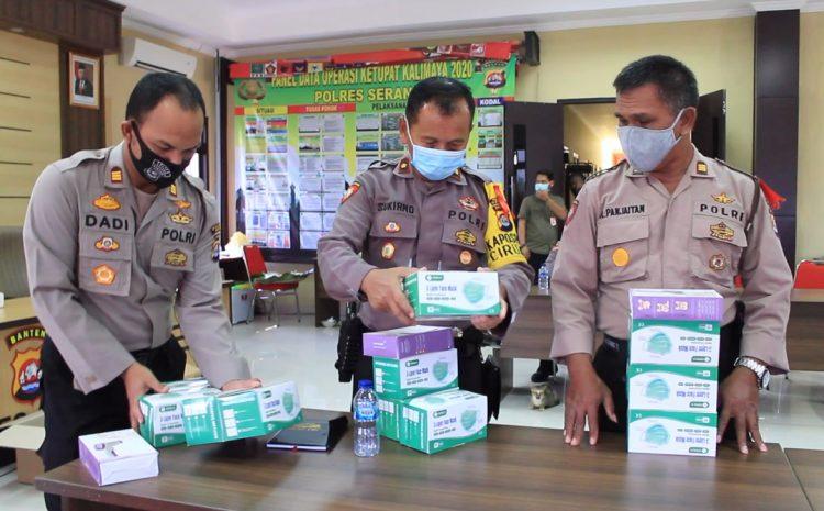 Polres Serang Terima Bantuan masker Dan Thermo Gun Untuk Penanganan Covid-19