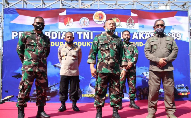 Demi Warga Masyarakat Subang Yang Terdampak Covid-19 AKABRI 89 Rela Blusukan