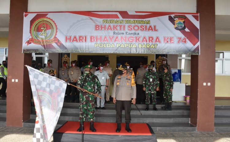 Pangdam XVIII/Kasuari Hadiri Upacara Pemberangkatan Bhakti Sosial Serentak Hari Bhayangkara Ke-74