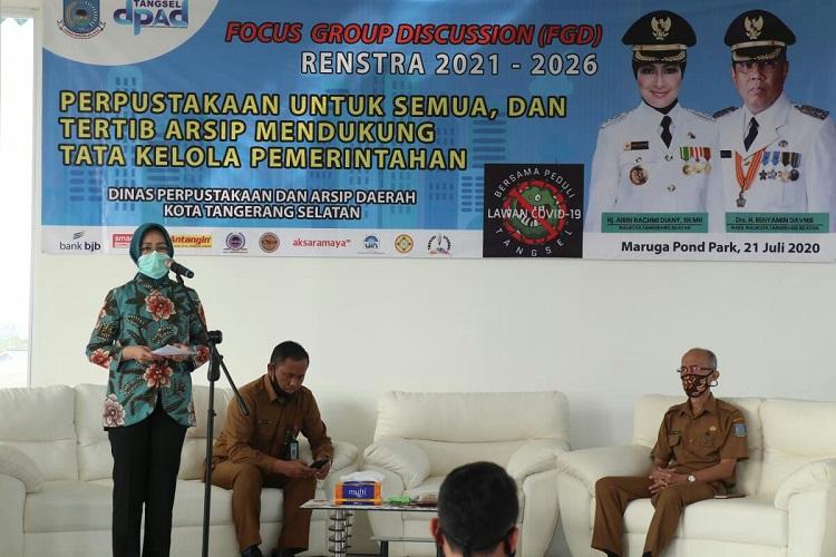 Walikota Tangerang Selatan Buka FGD Penyusunan Rencana Strategis (DPAD) 2021-2026